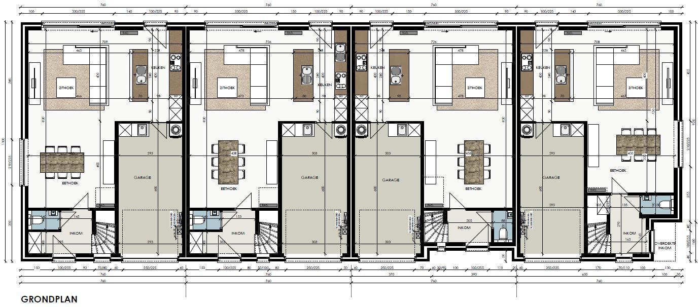 Verkocht gesloten nieuwbouwwoning met uitstekende for Grondplan badkamer